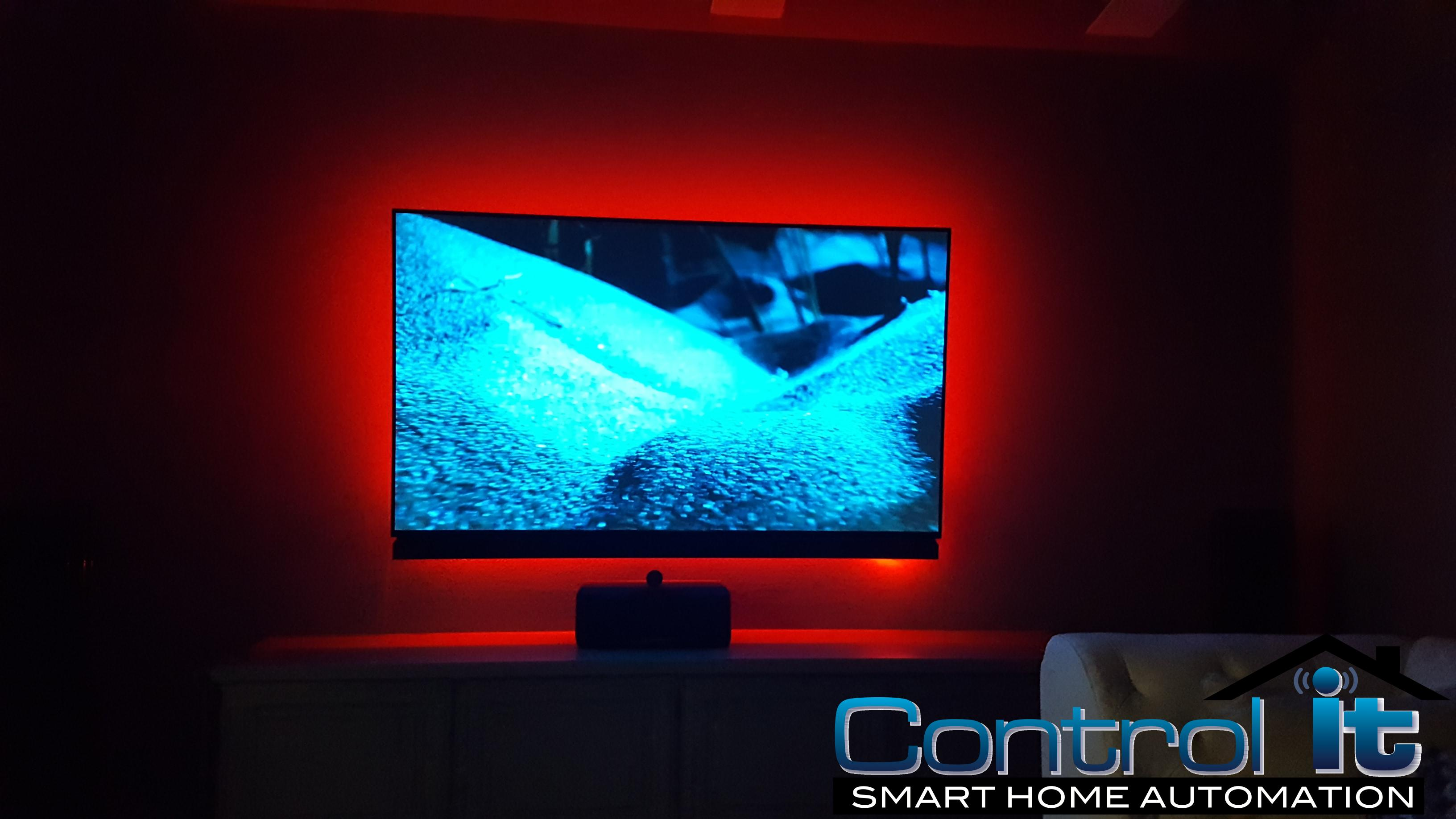 LED Back Lighting by Control-It Smart Home Automation and Home Theater